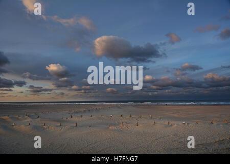 France, Dunkerque (Dunkirk), beach Malo les Bains off season - Stock Photo