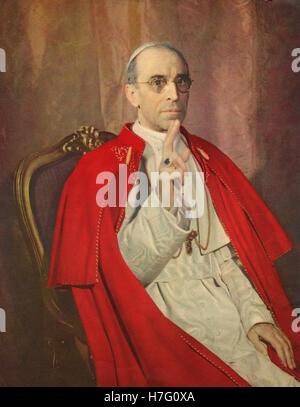 Portrait of Pope Pius XII - Stock Photo