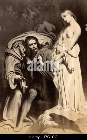 Faust at the Sabbath, painting by Ary Scheffer - Stock Photo