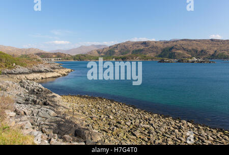 Loch Nan Uamh beautiful Scottish loch west coast of Scotland near Arisaig - Stock Photo