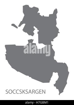 Soccsksargen Philippines Map grey - Stock Photo