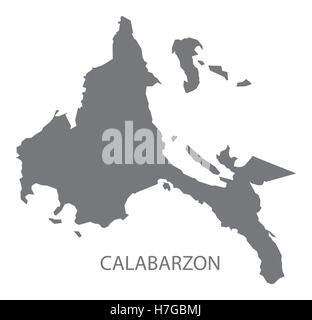 Calabarzon Philippines Map grey - Stock Photo