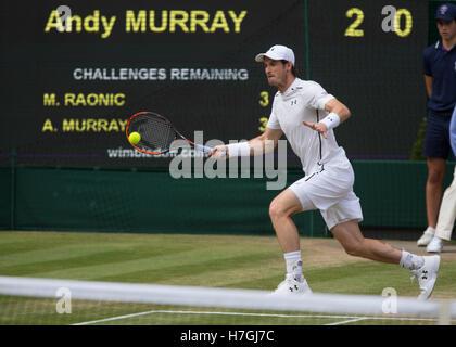 ANDY MURRAY (GBR) at Wimbledon 2016 - Stock Photo