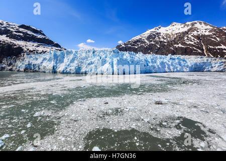 Margerie glacier in the Glacier Bay National Park, Alaska - Stock Photo