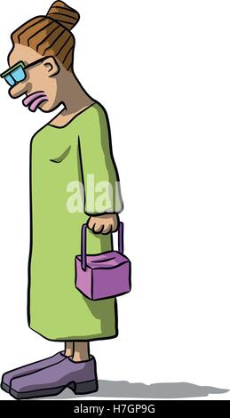 cartoon women sad and depressed - Stock Photo