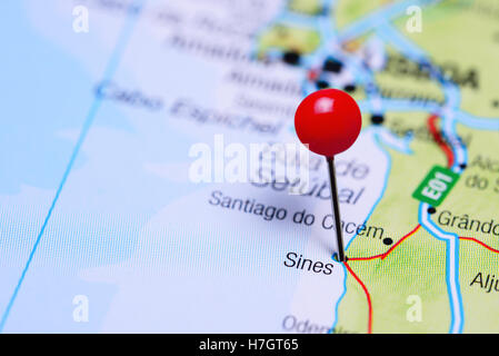 Sines Portugal Europe Stock Photo Royalty Free Image - Portugal map sines