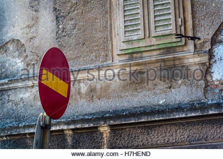 No entry traffic sign, Rijeka, Croatia - Stock Photo