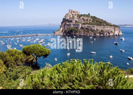 Castello Aragonese on the island of Ischia, Italy, Europe - Stock Photo