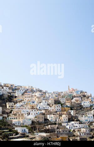 Mountain village of Olympos on the Greek island of Karpathos, Greece, Europe - Stock Photo