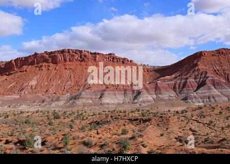 Colorful Hills in Old Paria, Grand Staircase-Escalante National Monument, Utah - Stock Photo