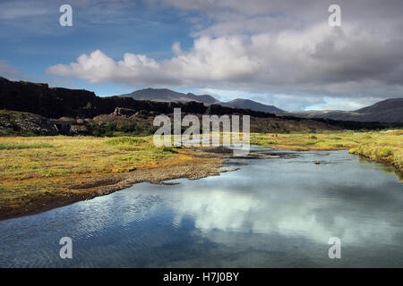Thingvellir national park in Iceland - Stock Photo