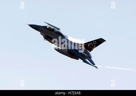 General Dynamics F-16B Fighting Falcon ET-210 of the Royal Danish Air Force, assigned to the US Air Force's 461st - Stock Photo