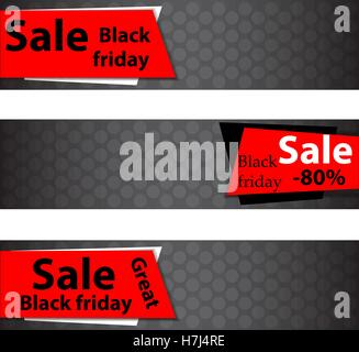 Black Friday Sale design template for your business artwork. Vector Illustration - Stock Photo