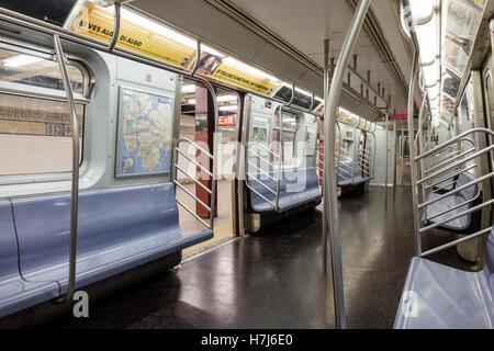 New York, NY, NYC, New York City, Lower Manhattan, Financial District, subway, MTA, public transportation, Broad - Stock Photo
