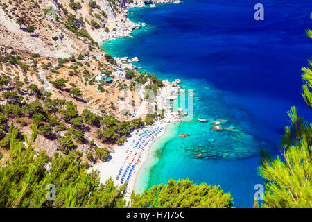 amazing Greek islands - Karpathos, Apella beach - Stock Photo
