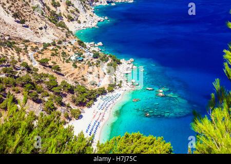 amazing Greek islands - Karpathos, Apella beach - Stock Photo