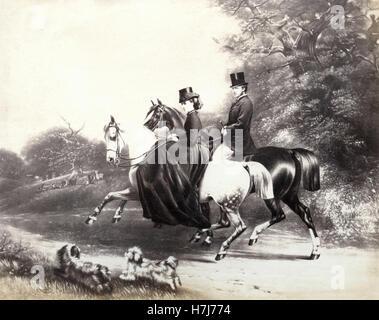 Albert Edward, prince of Wales, future king Edward VI, print - Stock Photo