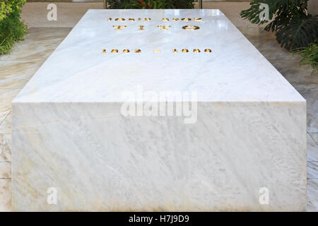 The tomb of Marshal Josip Broz Tito (1892-1980) at his mausoleum in Belgrade, Serbia - Stock Photo