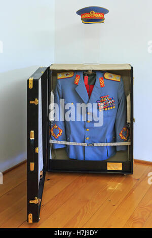 The uniform of Marshal Josip Broz Tito (1892-1980) t the House of Flowers in Belgrade, Serbia - Stock Photo