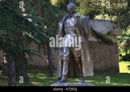 Statue of Marshal Josip Broz Tito (1892-1980) by Antun Augustincic (1900-1979) at the House of Flowers in Belgrade, - Stock Photo