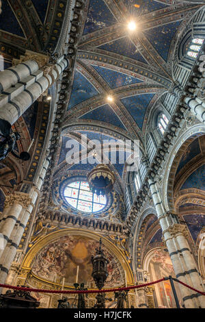The ceiling of the Siena Duomo, Tuscany, Italy - Stock Photo