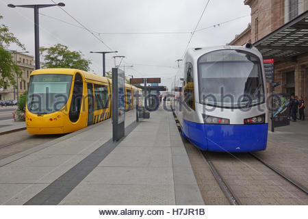 mulhouse tram train stock photo royalty free image 29916800 alamy. Black Bedroom Furniture Sets. Home Design Ideas