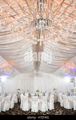 Decorated wedding hall - Stock Photo