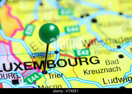 Trier pinned on a map of Germany Stock Photo 125196304 Alamy