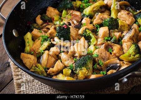 Traditional Chinese Food Ginger Garlic Mushrooms