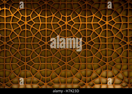 Abstract Pattern Background Oriental Oman wood carving - Stock Photo