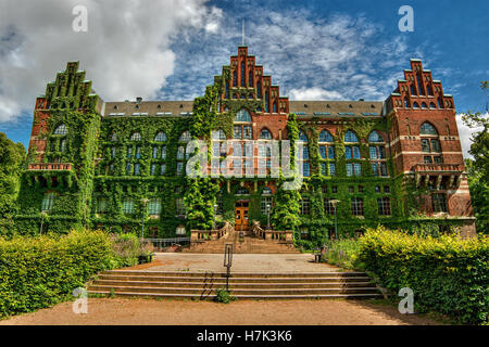 July 2016, facade of the university library in Lund (Sweden) - Stock Photo