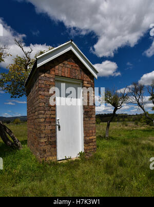 Australian Brick Outhouse Toilet Or Dunny Or Thunderbox At Small Country Rural Town Australian By Matheson