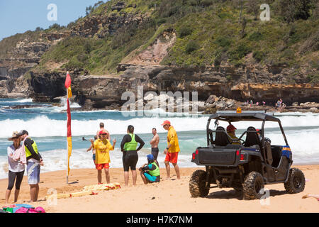 Warriewood beach one of Sydney's famous northern beaches,new south wales,Australia - Stock Photo