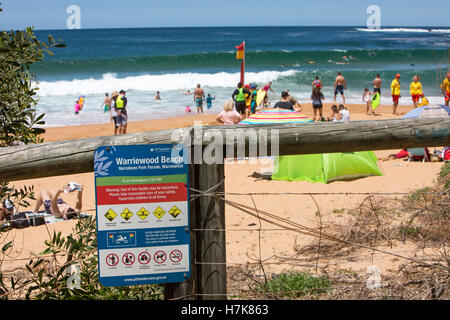Warriewood Beach, one of Sydney's famous northern beaches,New South Wales,Australia - Stock Photo