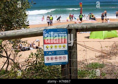 Warriewood Beach, one of Sydney's famous northern beaches,Australia - Stock Photo