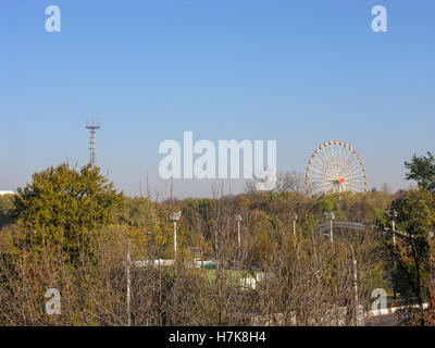View of Minsk recreation Gorky park  in autumn - Stock Photo