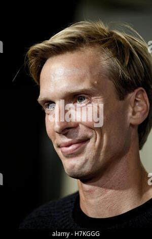 Danish footballer Christian Poulsen signs with FC Copenhagen. - Stock Photo