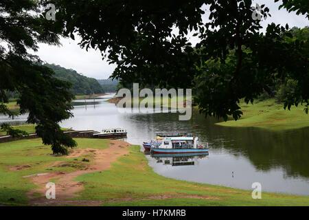 Thekkady Tourist attraction in Periyar National Park Idukki Kerala India - Stock Photo
