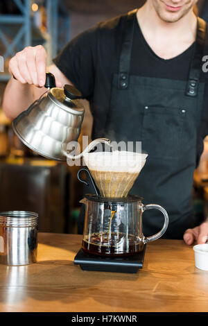 Barista making kemeks coffee - Stock Photo