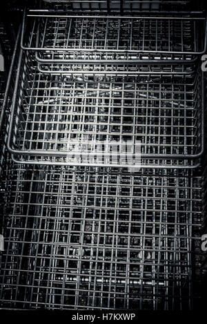 wire baskets - Stock Photo