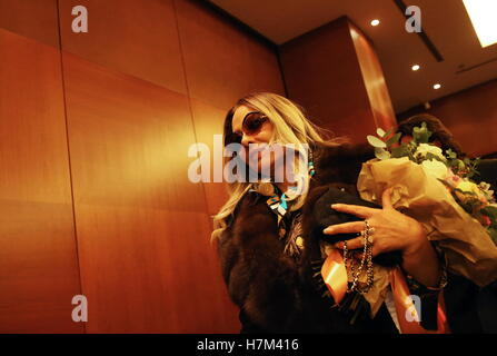Moscow, Russia. 5th Nov, 2016. Italian actress Ornella Muti after a press conference about a new music video of - Stock Photo