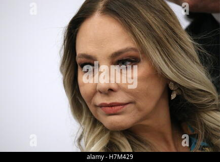 Moscow, Russia. 5th Nov, 2016. Italian actress Ornella Muti gives a press conference about a new music video of - Stock Photo