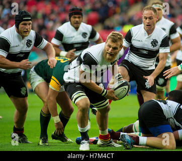 London, UK. 5th Nov, 2016. Sam Carter of the Barbarians during the Killik Cup match between Barbarians and South - Stock Photo