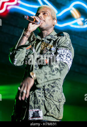 Los Angeles, USA. 05th Nov, 2016. Kid Ink performs at The Real Show 2016 presented by Real 92.3 at The Forum in Los Angeles, Ca © The Photo Access/Alamy Live News Stock Photo