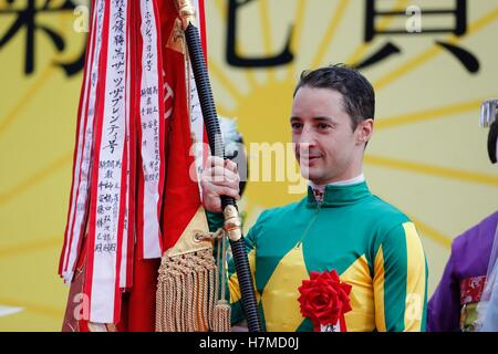 Kyoto, Japan. 23rd Oct, 2016. Christophe Lemaire Horse Racing : Jockey Christophe Lemaire after riding Satono Diamond - Stock Photo