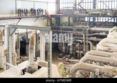 Chvaletice, Czech Republic. 05th Nov, 2016. Coal-fired power plant Elektrarna Chvaletice has open house, in Chvaletice, - Stock Photo