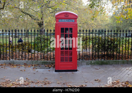 Red telephone box on Brunswick Square - Stock Photo