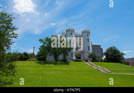 Baton Rouge Louisiana Old State Capital classic mansion in southern government - Stock Photo