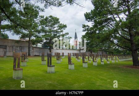Oklahoma City Oklahoma OK, OKC, historical disaster OKC bombing remains at OKC Bombing Memorial that happened on - Stock Photo