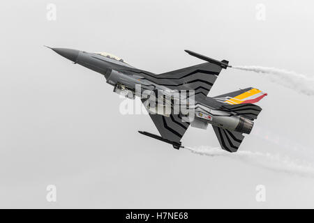GD F16 Fighting Falcon of the Belgian air component - Stock Photo